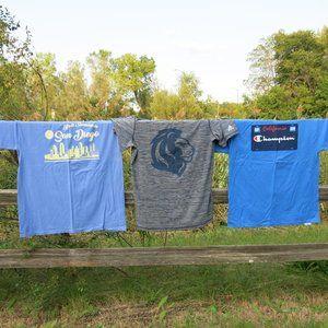 NEW 3 Male T-shirt BUNDLE size L